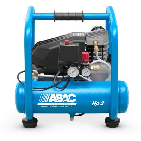 ABAC - Compresseur à piston lubrifié 9L 10 bar 2,5CV 16,2 m3/h - PRO START ROLLCAGE L25P - TNT