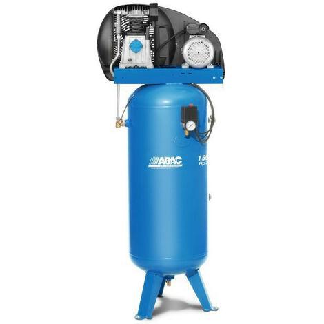 Abac - Compresseur d'air à pistons vertical bi-étagés 400 V Tri 4 CV 150 litres - B4900/150 VT4