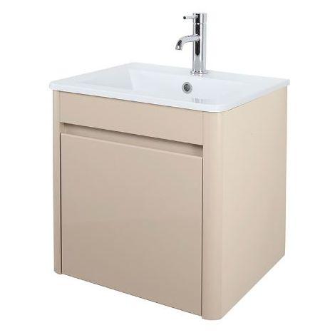 Abacus D-Style 50cm Basin & Vanity Unit Beige