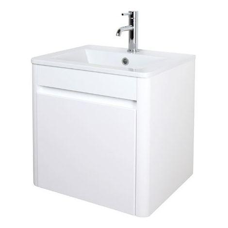 Abacus D-Style 50cm Basin & Vanity Unit White