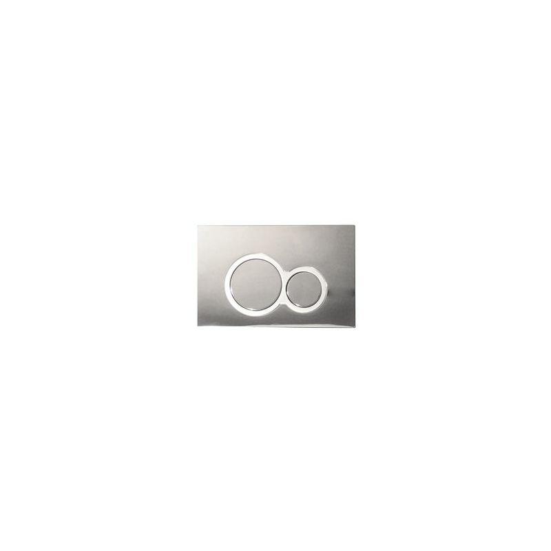 Image of Abacus Easiplan Iso Press Panel chrome/Satin/Chrome (EPPR-25-05CS)
