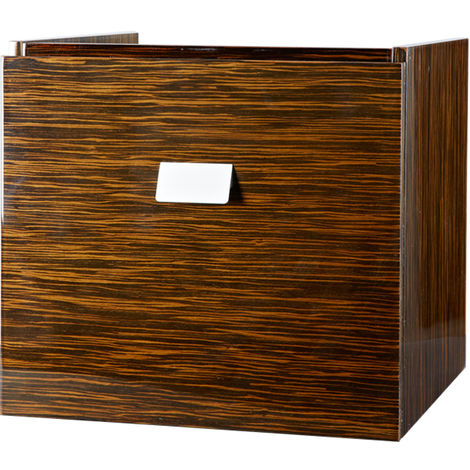 Abacus Essentials Opaz Square Under Basin Cabinet Ebony VEFN-30-3005