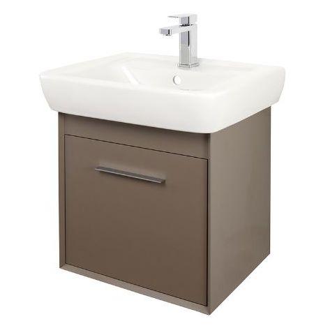 Abacus Simple 55cm Basin Vanity Unit Terra Matt