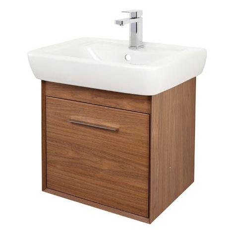 Abacus Simple 55cm Basin Vanity Unit Walnut