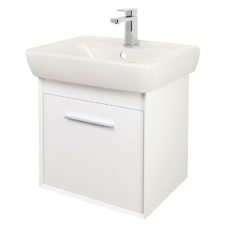 Abacus Simple 55cm Basin Vanity Unit White