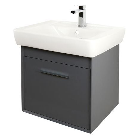 Abacus Simple 60cm Basin Vanity Unit Anthracite