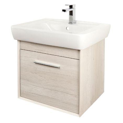 Abacus Simple 60cm Basin Vanity Unit Bleached Oak