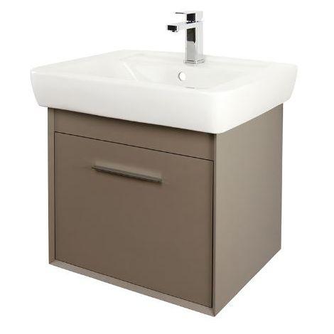 Abacus Simple 60cm Basin Vanity Unit Terra Matt