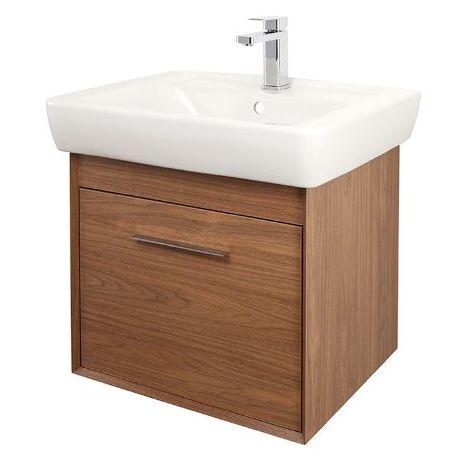 Abacus Simple 60cm Basin Vanity Unit Walnut