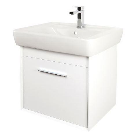 Abacus Simple 60cm Basin Vanity Unit White
