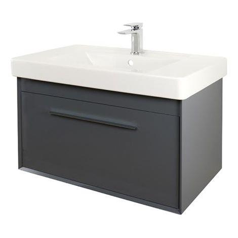 Abacus Simple 80cm Basin Vanity Unit Anthracite
