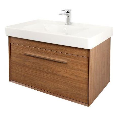 Abacus Simple 80cm Basin Vanity Unit Walnut