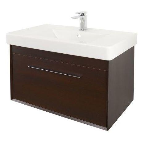 Abacus Simple 80cm Basin Vanity Unit Wenge