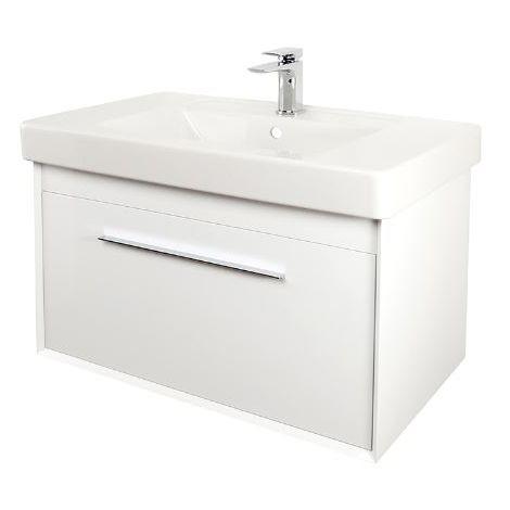 Abacus Simple 80cm Basin Vanity Unit White