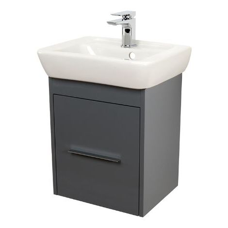 Abacus Simple Cloakroom 45cm Basin Vanity Unit Anthracite