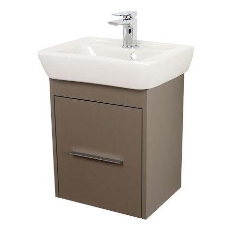 Abacus Simple Cloakroom 45cm Basin Vanity Unit Terra Matt