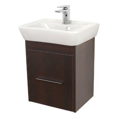 Abacus Simple Cloakroom 45cm Basin Vanity Unit Wenge