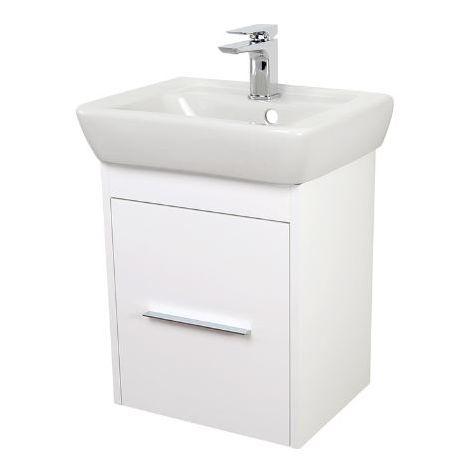 Abacus Simple Cloakroom 45cm Basin Vanity Unit White