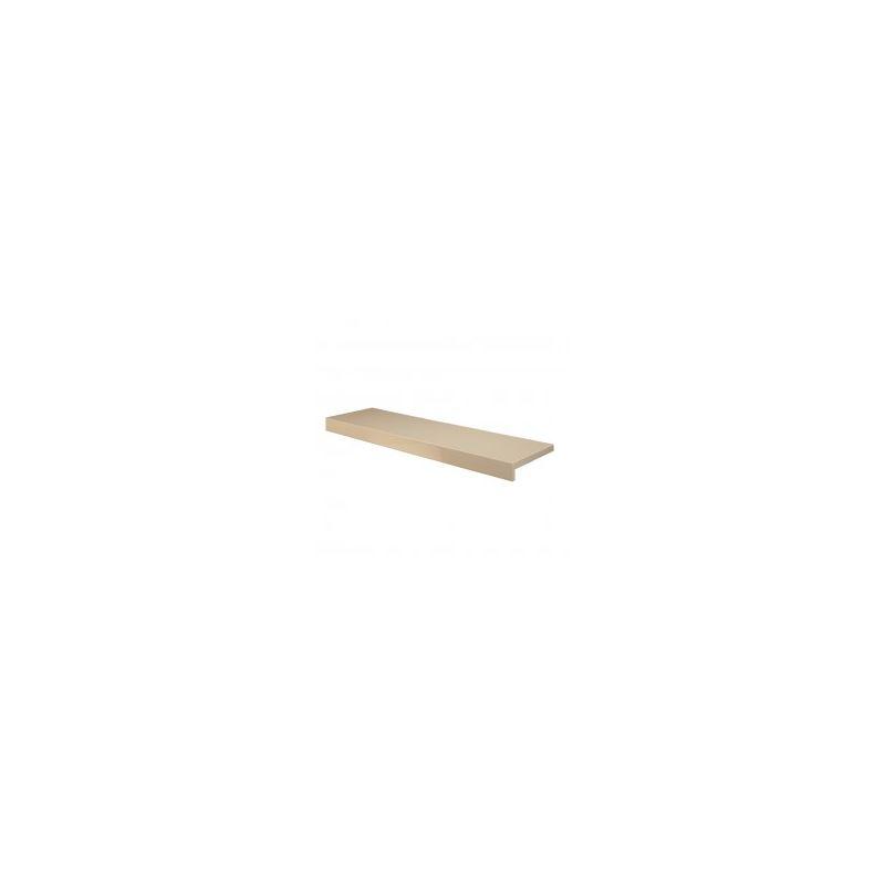 Image of Abacus Vessini 1800mm beige shelf with finished ends VEFN-25-4010