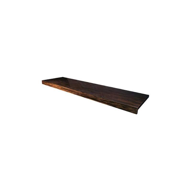 Image of 1800mm Ebony shelf with finished ends VEFN-25-3010 - Abacus Vessini