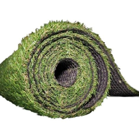 Abaseen 4 x 1 m 15 mm Artificial Grass Turf Pile Roll - Green