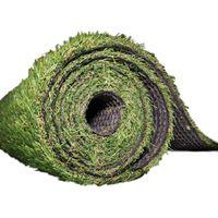 Abaseen 4 x 1 m 15 mm Artificial Grass Turf Pile Roll - Green