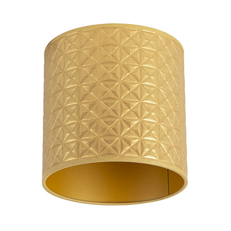 Abat-jour Design triangle doré 20/20/20 Qazqa Moderne Cylindre / rond