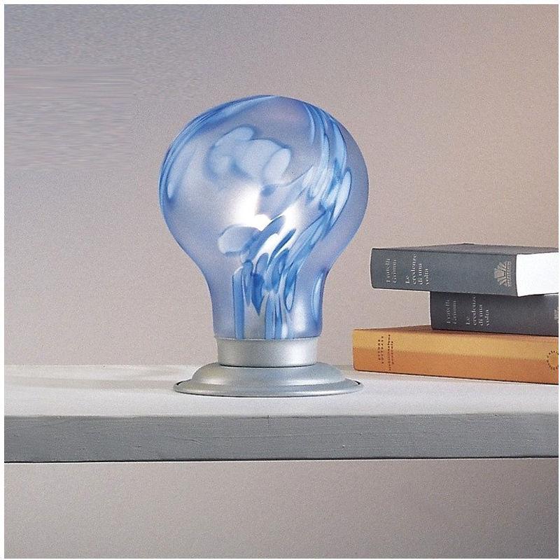 Abat-jour dp-lampadina-2251 e14 33w alogena led lampada tavolo moderna vetro interno, colore arancio - DUE P ILLUMINAZIONE