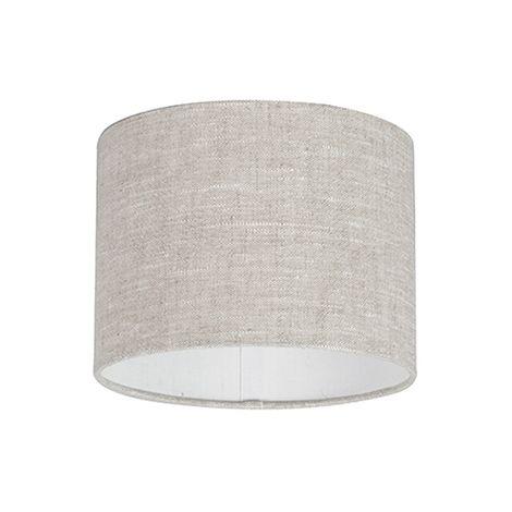 Abat-jour en tissu gris clair 20/20/15 Qazqa Moderne Rond