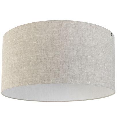 Abat-jour en tissu gris clair 50/50/25 Qazqa Moderne Rond