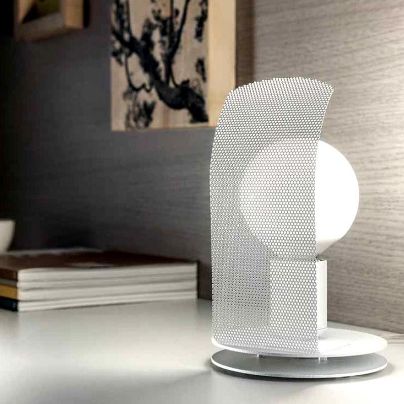 Fratelli Braga - Abat-jour fb-bulb 2120 e27 led metallo bianco frangiluce lampada tavolo moderna interno