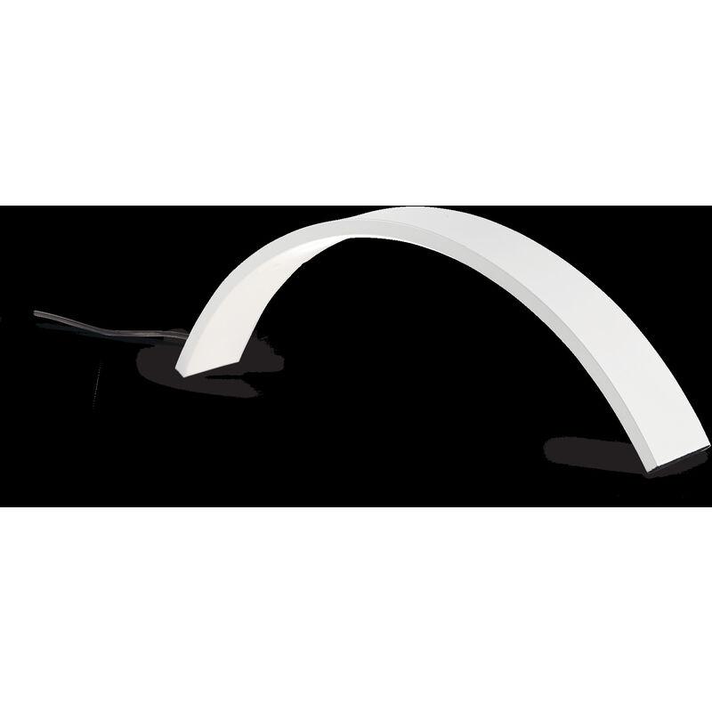 Abat-jour id-air tl24 10w led 720lm 3000�k metallo curvo nero bianco lampada tavolo scrivania moderna interno, finitura metallo bianco - IDEAL LUX