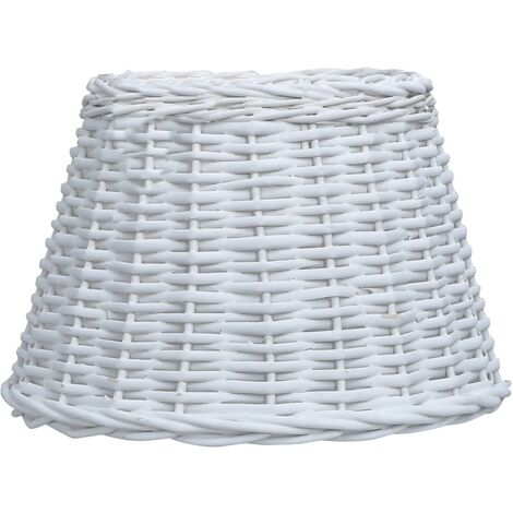 Abat-jour Osier 30 x 20 cm Blanc