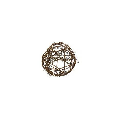 ABAT JOUR (S) - Boule en Osier diam 12 cm - Fibre Naturelle pour montage sur guirlande, suspension