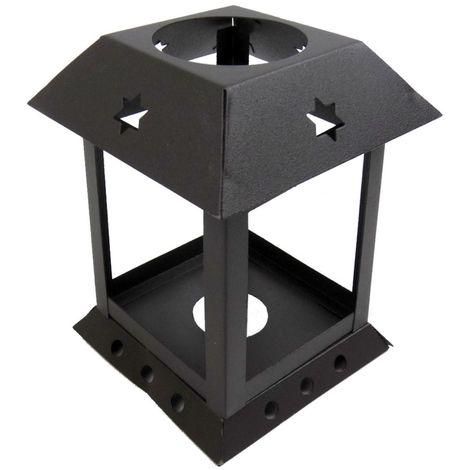 ABAT JOUR (S) - Lanterne Métal Carrée 10 x 7 x 7 (cm) - Rustique