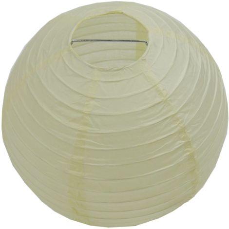 ABAT JOUR (S) - Lanterne Papier Ø 12cm - Beige