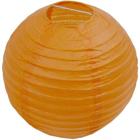 ABAT JOUR (S) - Lanterne Papier Ø 12cm - Orange