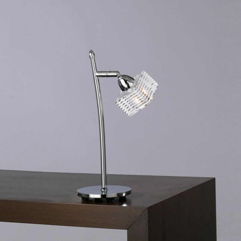 Abat-jour tp-metropolitan 1047 p g9 led vetro quadrato orientabile lampada tavolo moderna metallo