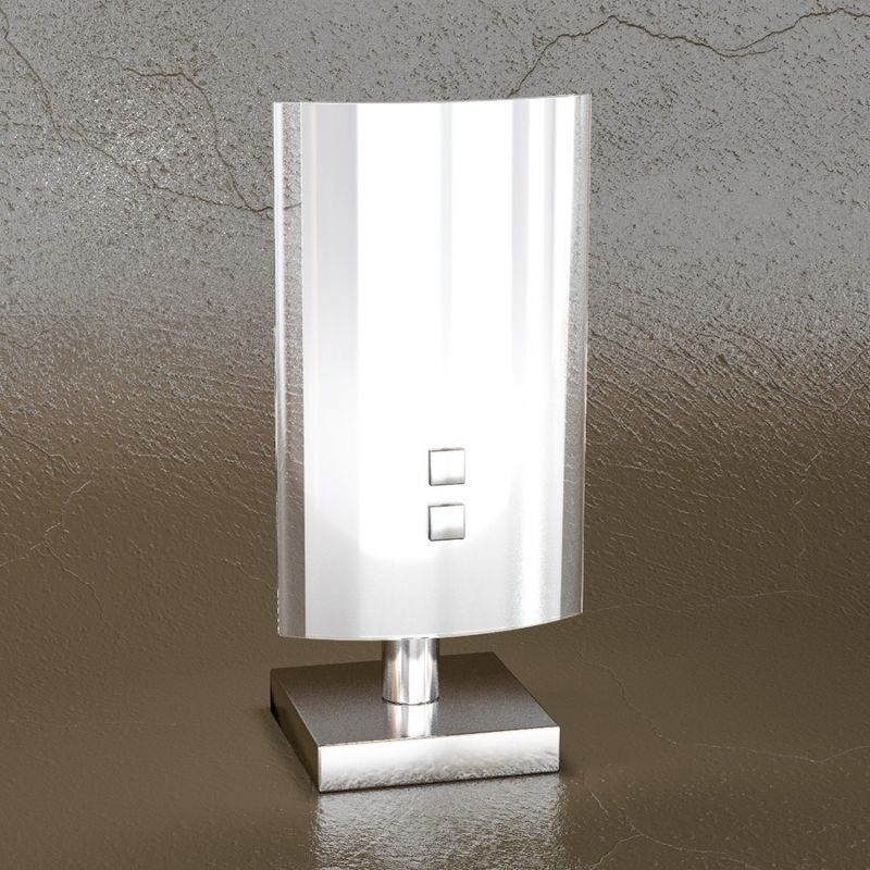 Abat-jour tp-shadow 1088 p g9 led vetro colorato decorato lampada tavolo comodino moderna interno, vetro bianco lucido