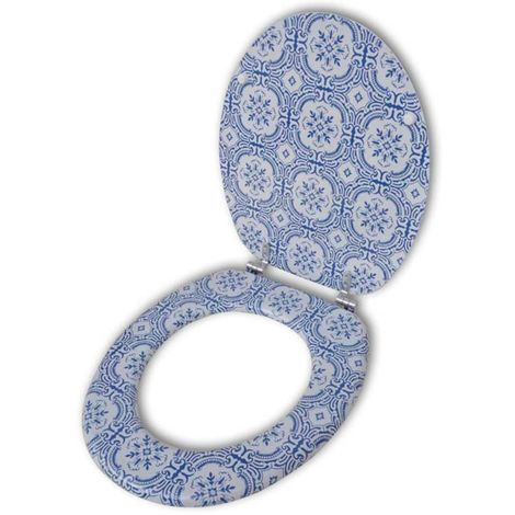 Abatant de WC avec couvercle design porcelaine