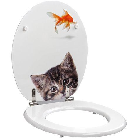 Abattant Allibert - Poisson-chat