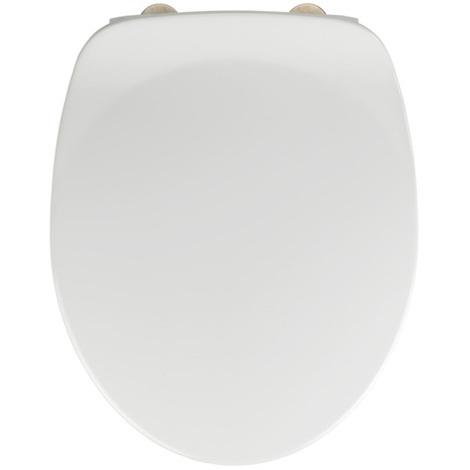 Abattant Armonia blanc en duroplast - Dim : 37 x 44 cm -PEGANE-