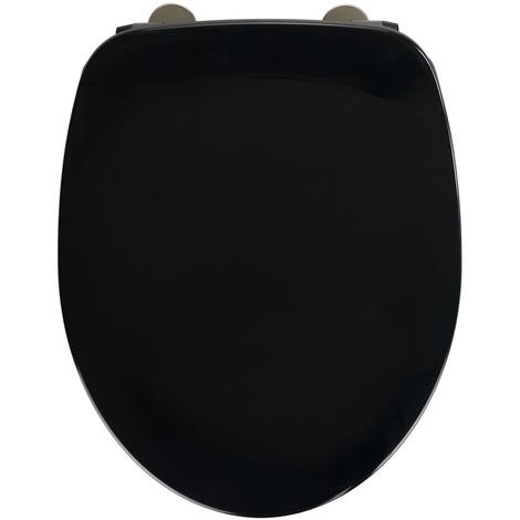 Abattant Armonia noir duroplast - Dim : 37 x 44 cm -PEGANE-