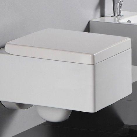 Abattant Blanc rectangulaire duroplastic pour wc KUBE
