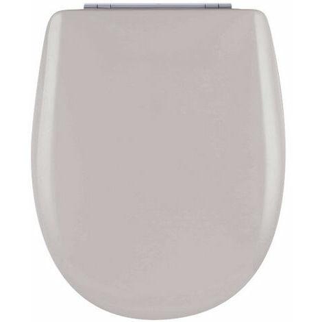 Abattant de toilette - Bois Reticule - OLFA - Ariane Flanelle Descente Assistee Declipsable - Flanelle