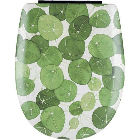Abattant de toilette - Bois Reticule - OLFA - Ariane Pilea Descente Assistee Declipsable - Pilea