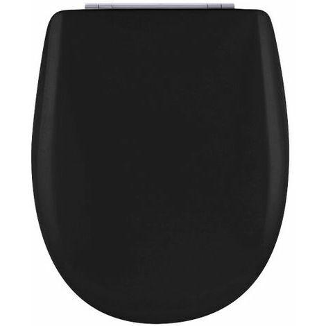 Abattant de toilette - Bois Reticule - OLFA - Ariane Soft Black Descente Assistee Declipsable - Soft Black