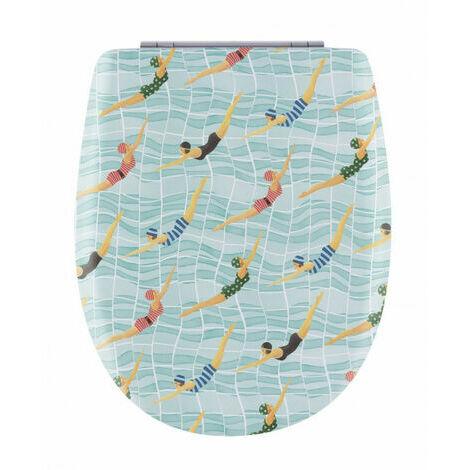 Abattant de toilette - Bois Reticule - OLFA - Ariane Swim Descente Assistee Declipsable - Swim