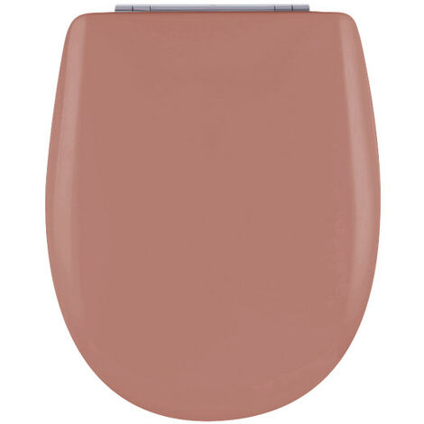 Abattant de toilette - Bois Reticule - OLFA - Ariane Terracotta Descente Assistee Declipsable - Terracotta