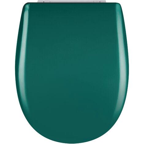 Abattant de toilette - Bois Reticule - OLFA - Ariane Vert Alpin Descente Assistee Declipsable - Vert Alpin